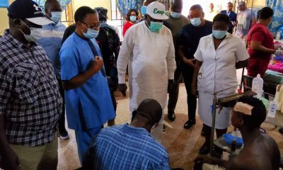 Enugu Cop's Misuse Of Fire Arm: Gov. Ugwuanyi Visits Victims, Pays Medical Bills