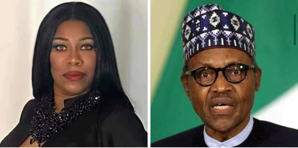 Nollywood Actress, Regina Askia Replies to Buhari on his war threat to the Igbo