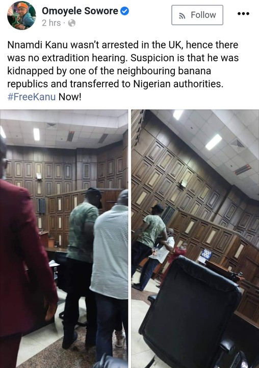 Nnamdi Kanu Was Kidnapped And Not Arrested