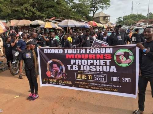 Ondo Youths Urge TB. Joshua Family To Bring Body Home For Burial