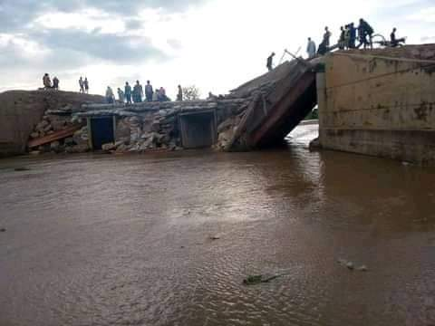 Gov Fintiri's village: Residents cry out for help over the collapsed bridge linking Adamawa, Borno
