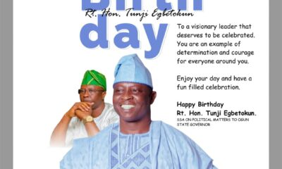 Ex-LG Chairman, Shomide Felicitates Gov Abiodun's Aide, Egbetokun On Birthday Anniversary