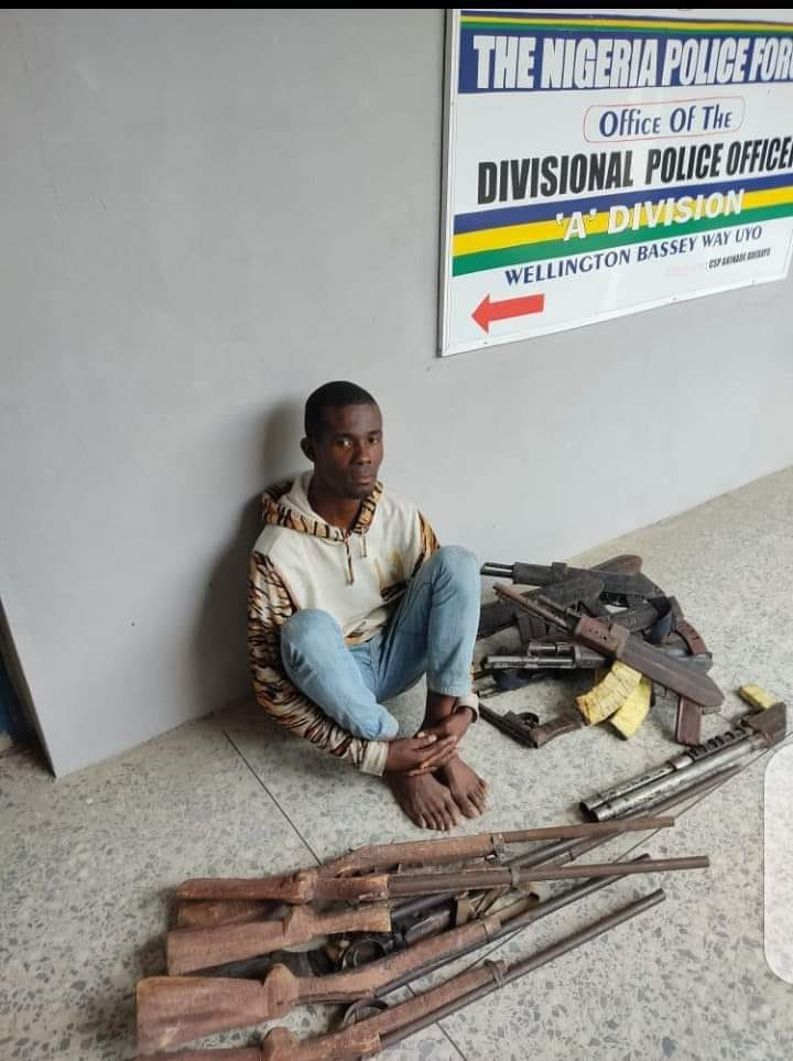 Police Arrest Welder Who Manufacture Locally Made Guns To Criminals In Akwa Ibom