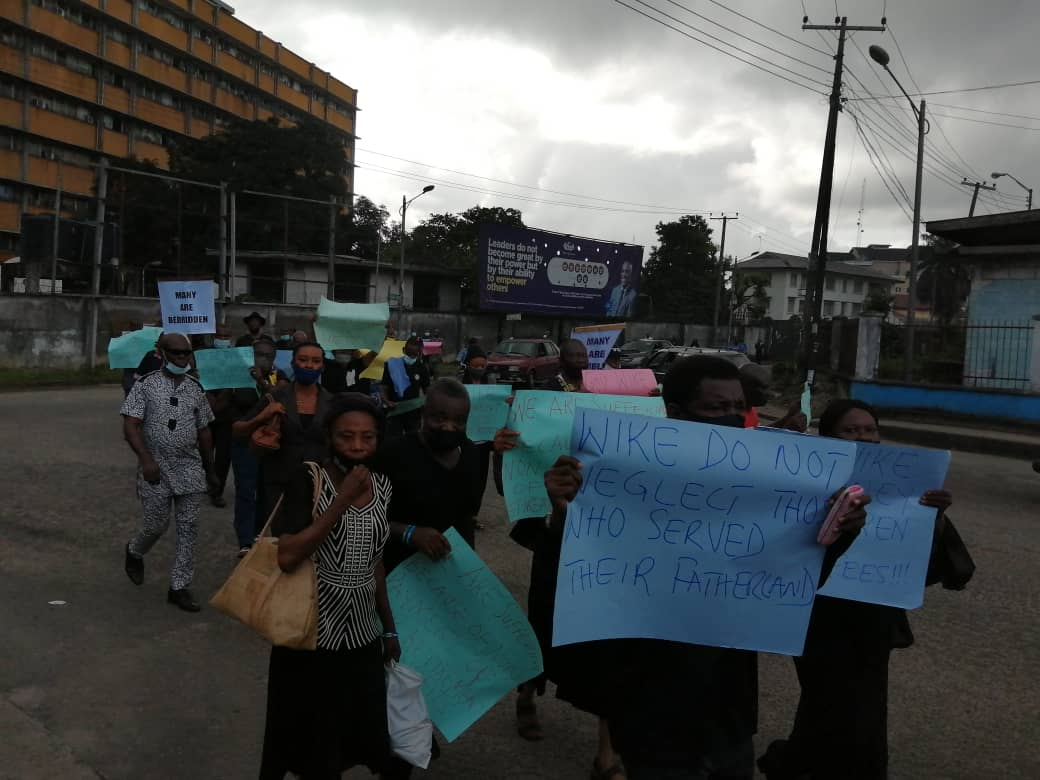 Pensioners Take The Street To Protest Over Unpaid Pension In Rivers