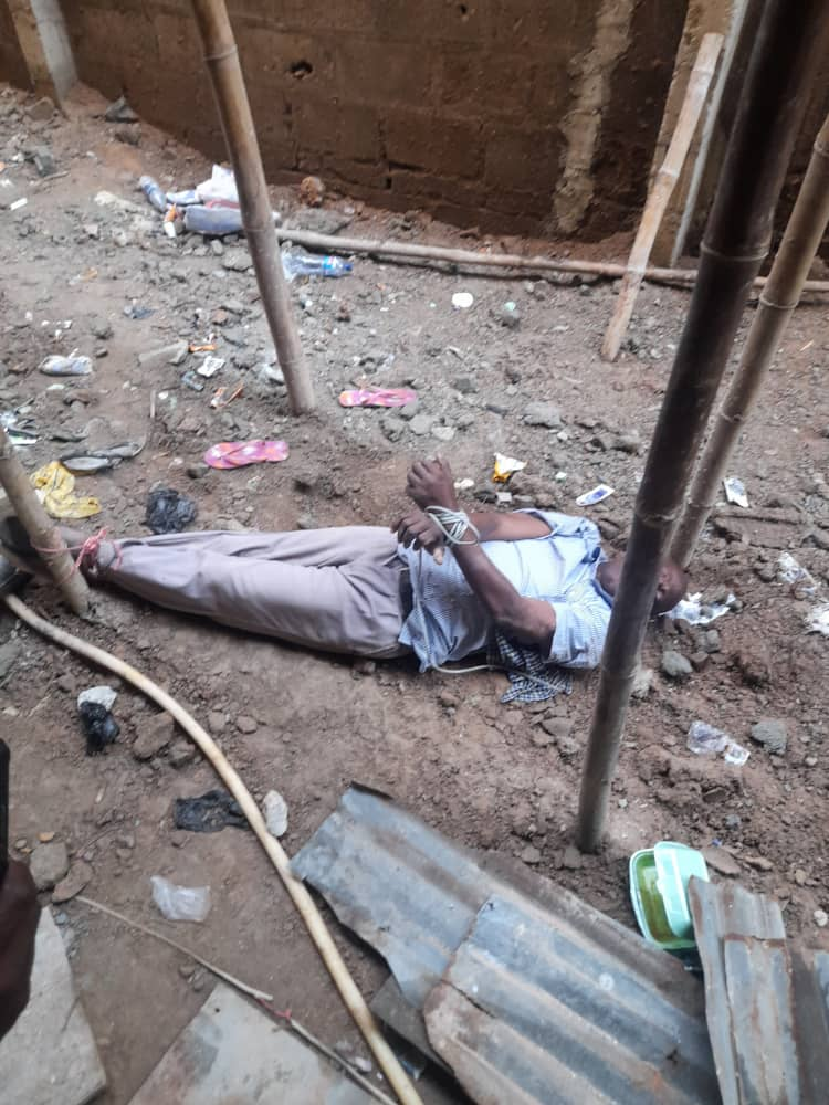 Lagos Police Rescue Debtor Tied To A Stake Over N4.6m Debt