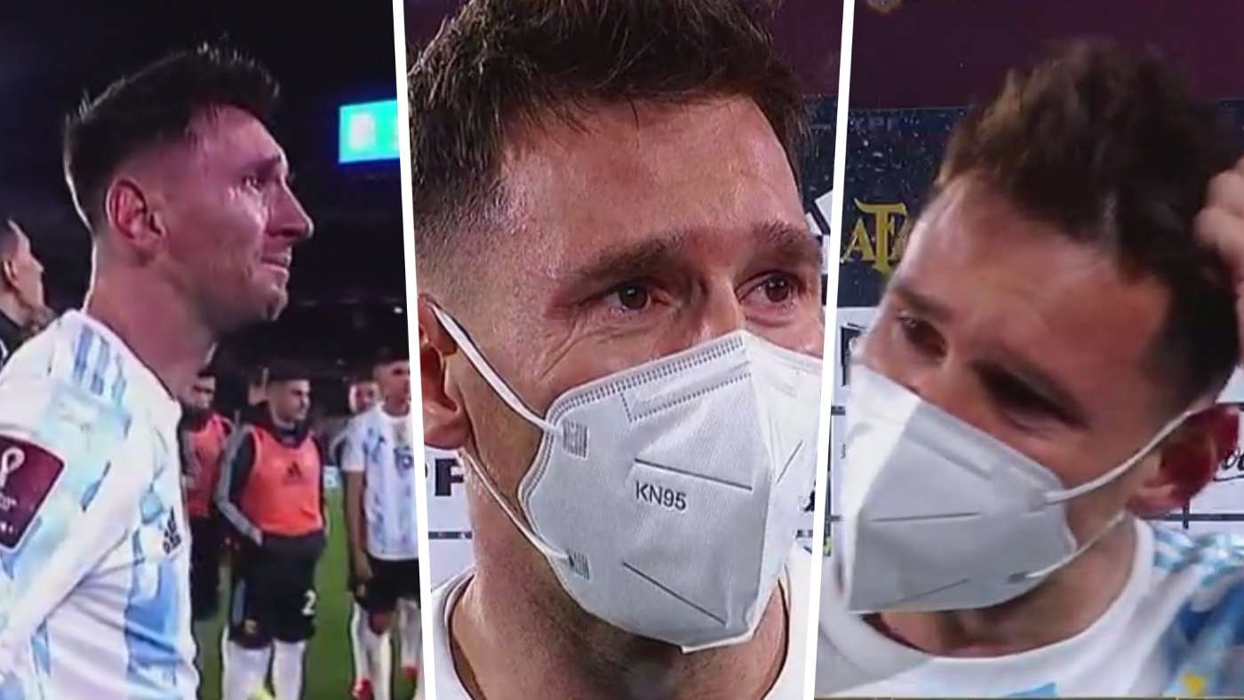 Messi Cries After He Broke Pele's Goalscoring Record