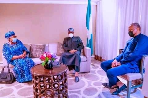 President Buhari Meets With Ngozi Okonjo-Iweala In New York