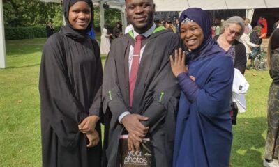 Amir, Aisha Yesufu's Son Graduates From Regent University London