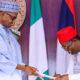 2023: Ebonyi indigenes tackle Umahi for praying to have another Buhari