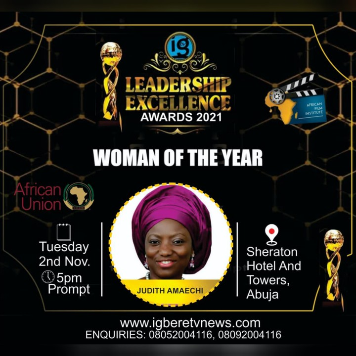 Former Rivers First Lady, Judith Amaechi Voted 2021 Woman Of The Year