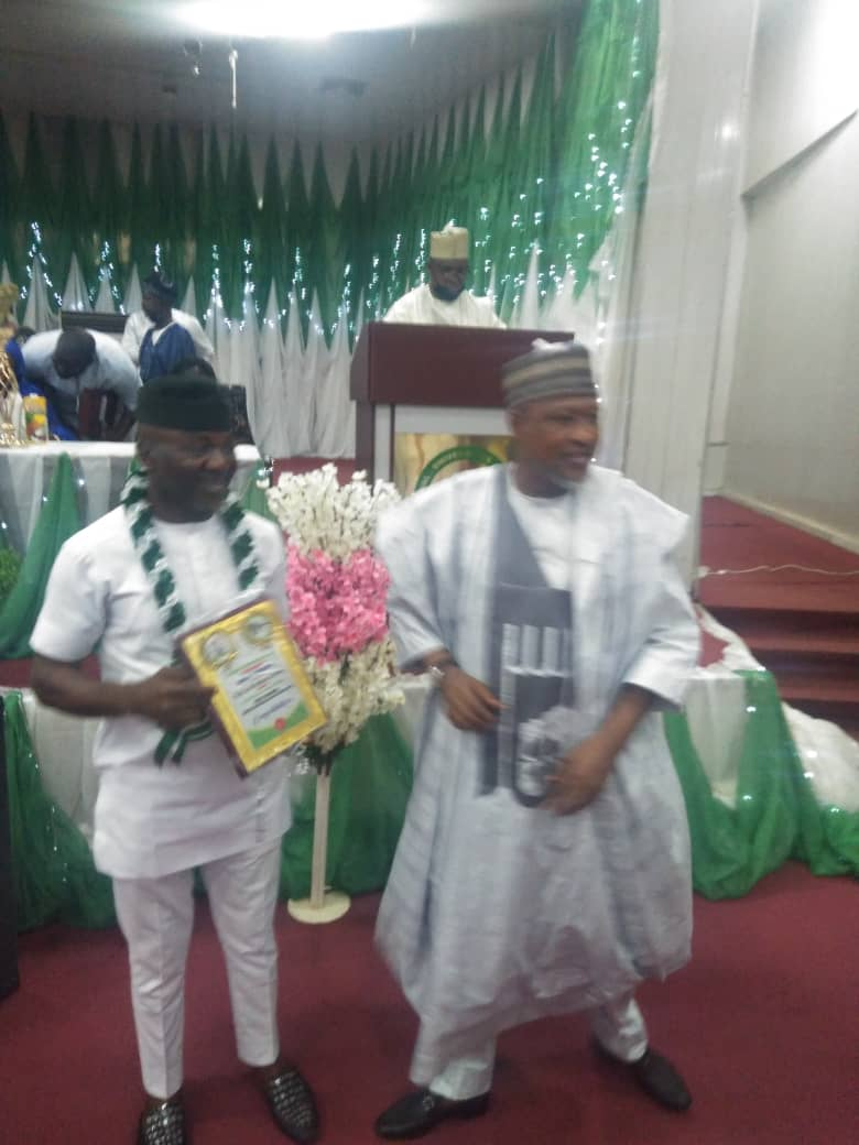 Presidential Award: Nasarawa Speaker Bags Nigeria North Central Best Speaker Award.