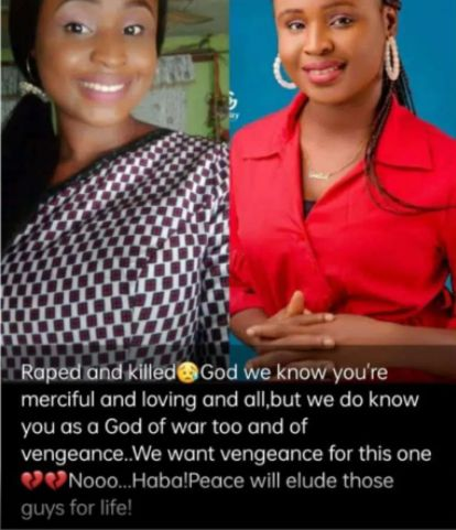 Joy Onuh Ogochukwu Mass Comm Graduate Raped & Killed In Benue State