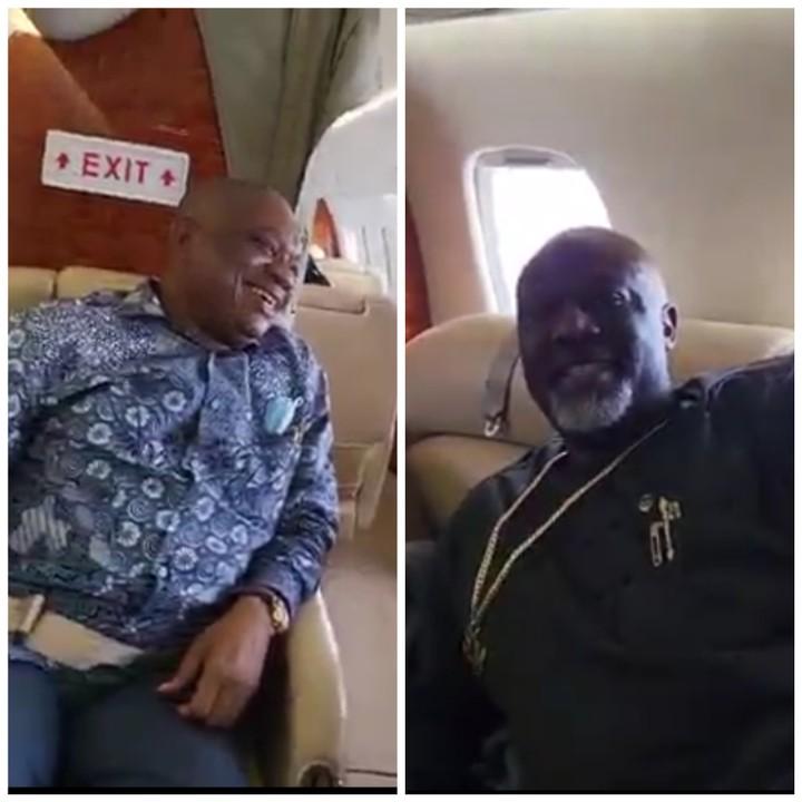 Dino Melaye On A Private Jet With Orji Kalu (Video)