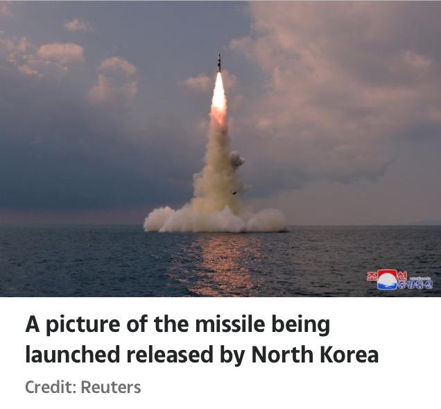 North Korea Fires Ballistic Missile From Submarine Towards Japan